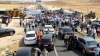 Cizre road block