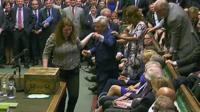 John Bercow dragged to Speaker's chair
