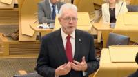 "Scottish Brexit minister Mike Russell says the Scottish government has ""fundamental"" problems with the UK's EU Withdrawal Bill."
