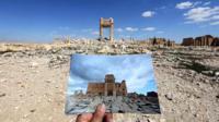 destruction in Palmyra