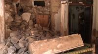 Homes destroyed in earthquake