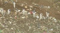 Aerials of landfill site in Bury