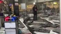 Debris on the floor