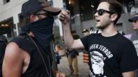 Far-right protest group held march in one of the United States' most liberal cities.
