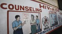 HIV information poster in South Africa