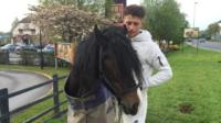 Connor Hamer with his horse