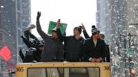 The Eagles parade through Philadelphia