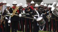 Royal Marines Band at Jutland service
