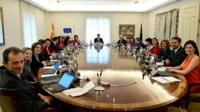 Spain's Socialist Prime minister Pedro Sanchez has announced his new cabinet of 11 women and 7 men.