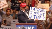Donald Trump at a 2016 rally in Arizona