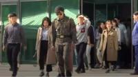 Tourists return from South Korea