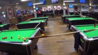 Snooker tables in bar