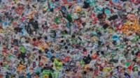 Art work made of plastic waste