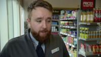 Shop worker discusses being threatened with knife