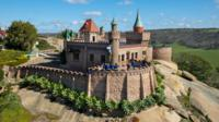 Children enjoy Fairy Park, a castle-themed park located in country Victoria