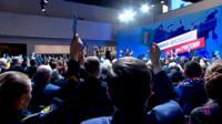 Сторонники Владимира Путина поддержали его выдвижение на новый президентский срок.