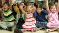 Kids at nursery school