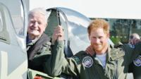 Prince Harry with WW2 veteran
