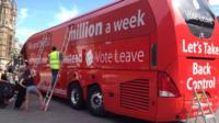 Brexit bus with spending claim