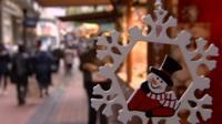 Snowman decoration at Birmingham's Frankfurt Christmas Market