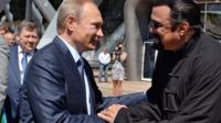 Vladimir Putin with Steven Seagal