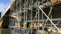 Conwy bridge and scaffolding