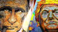 Трамп из мелочи и Путин из гильз