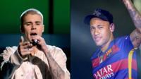Justin Bieber and Neymar
