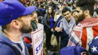 Protesters clash at Trump rally
