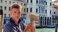 The child art prodigy makes his first trip abroad as he follows in the footsteps of his favourite painters.