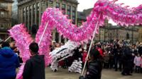 Chinese new year was celebrated in George Square