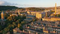 An aerial view of Bradford