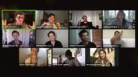 Actors perform on Zoom