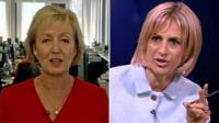 Tory MP Andrea Leadsom and Emily Maitlis