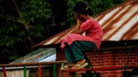 Young girl in Daulatdia, Bangladesh.