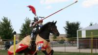 Sarah Hay in jousting competition