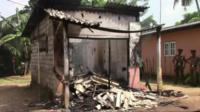 Properties vandalised in Galle province, Sri Lanka