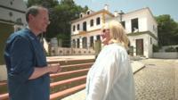 The BBC's David Sillito and actress Polly Perkins