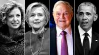 Debbie Wasserman Schultz, Hillary Clinton, George Soros and Barack Obama