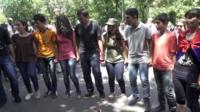 Armenians dancing