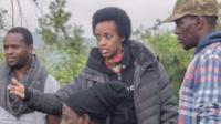 Natasha Museveni on set of 27 Guns