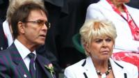 Sir Cliff Richard and Gloria Hunniford at Wimbledon