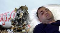Развалившийся самолет и пассажир в больнице.