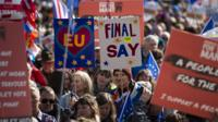 Anti-Brexit campaigners march in Liverpool