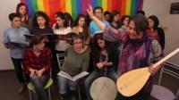The Seven Colours Association choir in Mersin, Turkey