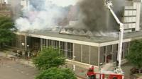Norwich library on fire in 1994