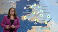 Sue Charles giving the weather forecast