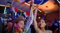 Macron supporters