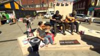 30 hour busking session in Dudley
