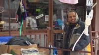 A trader at Walthamstow Market